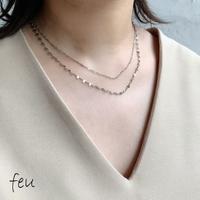 feu | Thin Double Necklace     2連ネックレス アレルギー対応 ステンレス素材 レイヤード 3WAY  ユニセックス ジェンダーレス 韓国ファッション