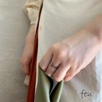 feu | Thin Connect Ring サージカルステンレス アレルギー対応 華奢 大人カジュアル ONOFF シーンレス カジュアル シンプル 韓国ファッション