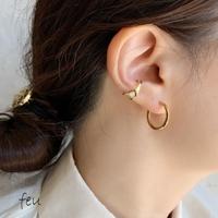 feu | Round Hoop Pierce  フープピアス ステンレス アレルギー対策 シンプル 1000円以下 万能 韓国ファッション