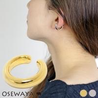 osewaya | 【片耳用】イヤーカフ ニッケルフリー ラウンド メタル イヤリング ピアス風[お世話や][osewaya]