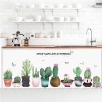 ウォールステッカー 貼ってはがせる サボテン リビング 鉢植え 壁紙シール 壁シール 窓ガラス 壁面装飾 デコレーション可愛いおしゃれ インテリア 雑貨 DIY
