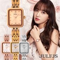JULIUS  | 腕時計 レディース 防水 レディースウォッチ ウォッチ おしゃれ かわいい シンプル 人気 ファッション アクセサリーパーティアンティーク ゴールド ピンク