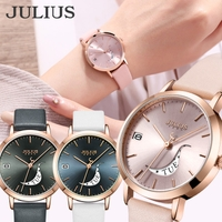 JULIUS    腕時計 レディース 防水 レディース腕時計 時計 カレンダー 曜日 日付 スマイル おしゃれ 人気 ファッション カジュアル 20代30代 40代
