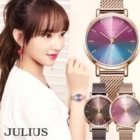 JULIUS  | 腕時計 レディース 防水 レディース腕時計 おしゃれ 人気 ファッション ブレスレット 20代 30代 40代グラデーションレインボー
