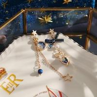 【Ruby's Collection】 星とうさぎのロマンチックピアス アシメトリー/ピアス/うさぎ/rabbit/星/リボン/ガーリー/かわいい/おしゃれ/ギフト