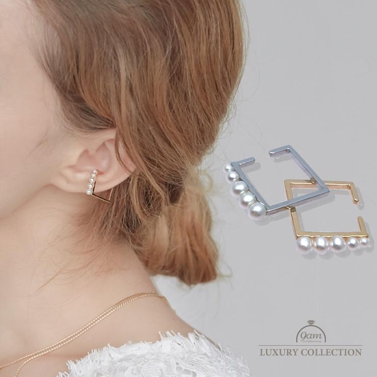 イヤーカフ レディース パール   9am jewelry&accessory   詳細画像1