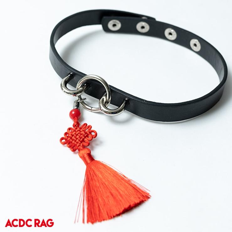 チャイナタッセルチョーカー パンク ロック | ACDCRAG | 詳細画像1