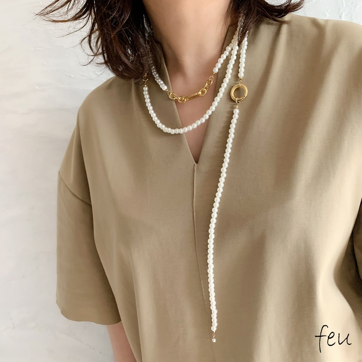 Pearl Long Necklace   feu   詳細画像1