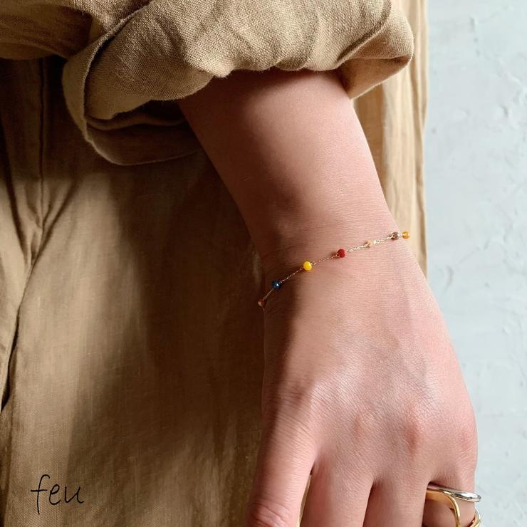 Point beads Bracelet | feu | 詳細画像1
