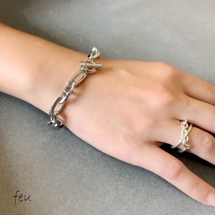 Combination Chain Bracelet | feu | 詳細画像1