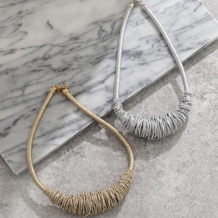 金糸ツイストデザインネックレス | 詳細画像