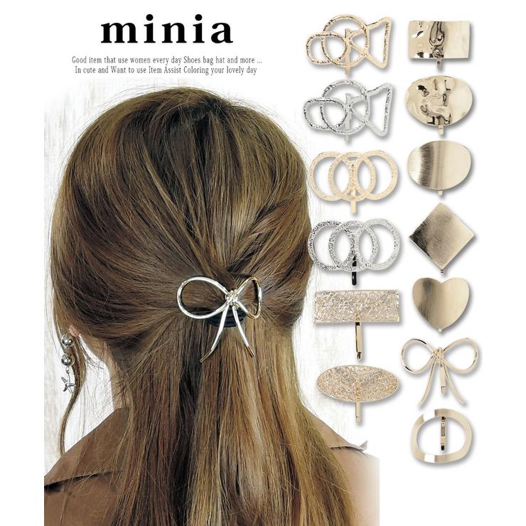 メタルパーツのゴム付きポニーフック ヘアカフ minia | minia | 詳細画像1