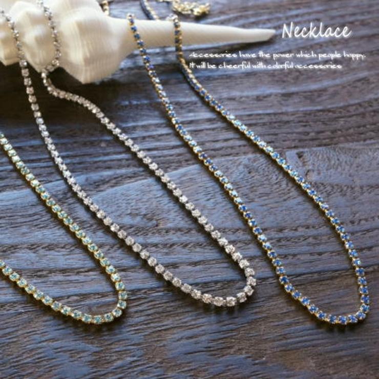 キラキラなラインストーンで胸元が輝くラインストーンネックレス アクセサリー | YUKATANゆかたん | 詳細画像1