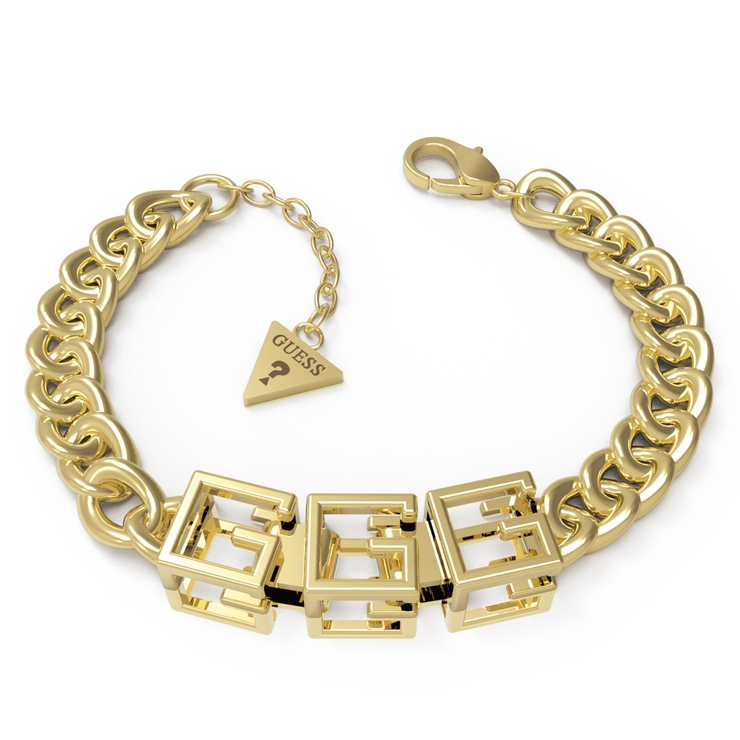 [GUESS] G CUBE Curb & 10 mm Bracelet   GUESS【WOMEN】   詳細画像1