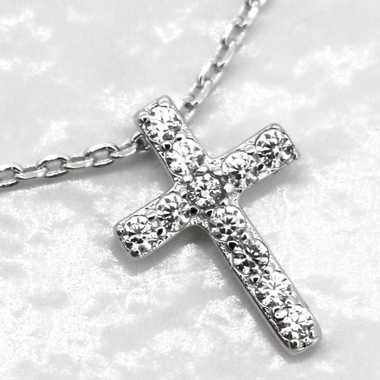 贅沢11粒0 11カラット クロス   gulamu jewelry    詳細画像1