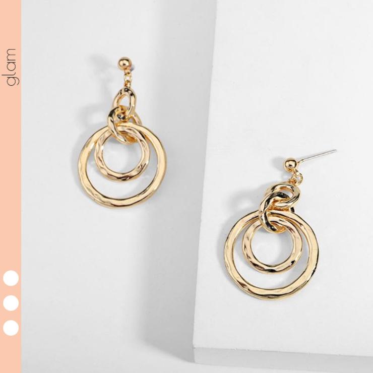 つちめ加工 4連 ゴールド | gulamu jewelry  | 詳細画像1