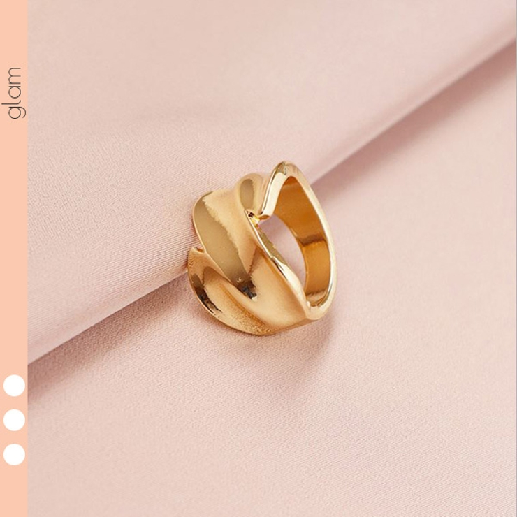 ウェーブ ゴールドリング 指輪   gulamu jewelry    詳細画像1