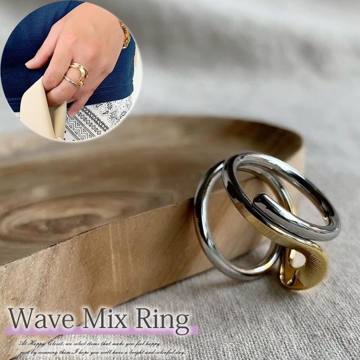 リング 指輪 ワイドリング   HAPPYCLOSET   詳細画像1