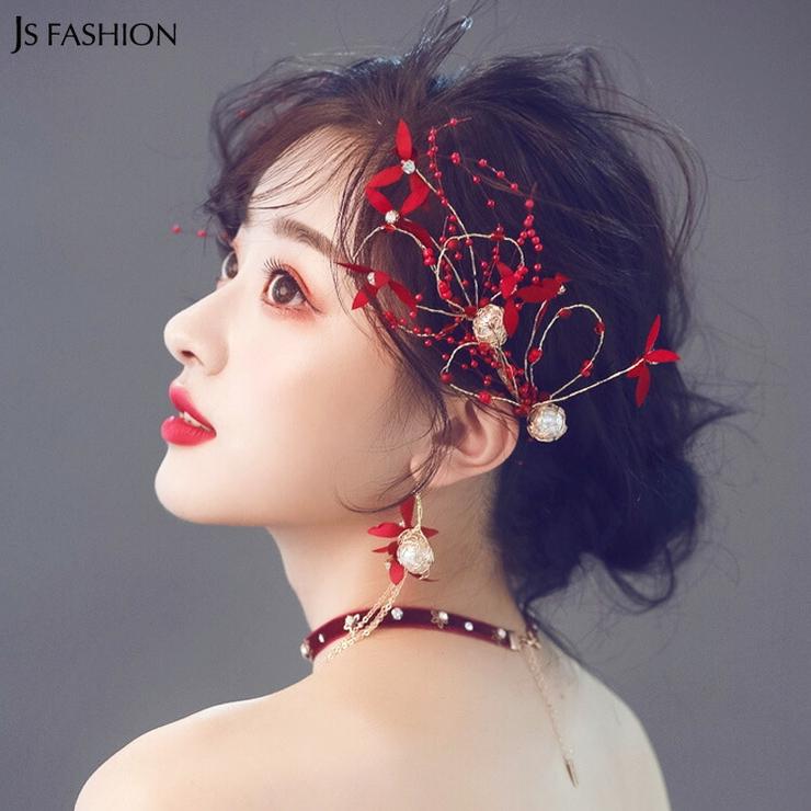 ヘアアクセサリー5点セット ヘッドドレス ブライダルアクセサリー | JS FASHION | 詳細画像1