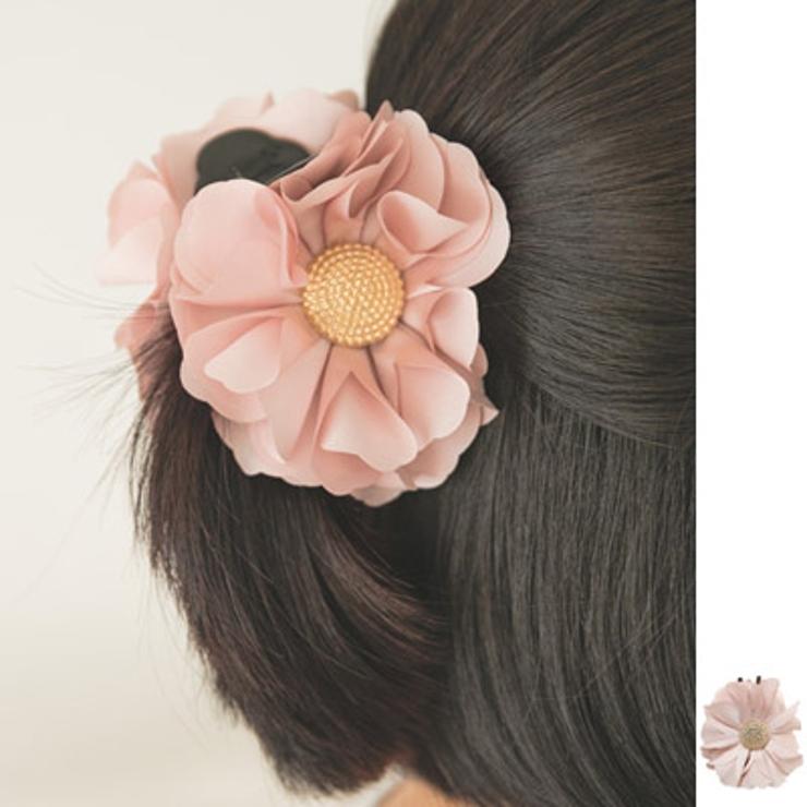 ふんわりエアリーな花びらがエレガント♪フラワーゴールドバンスクリップ | KawaiCat | 詳細画像1