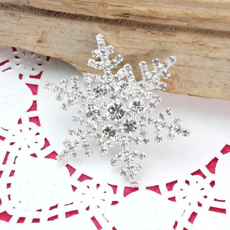 再入荷 クリスマス 定番 雪の結晶のキラキラブローチ | lunolumo | 詳細画像1