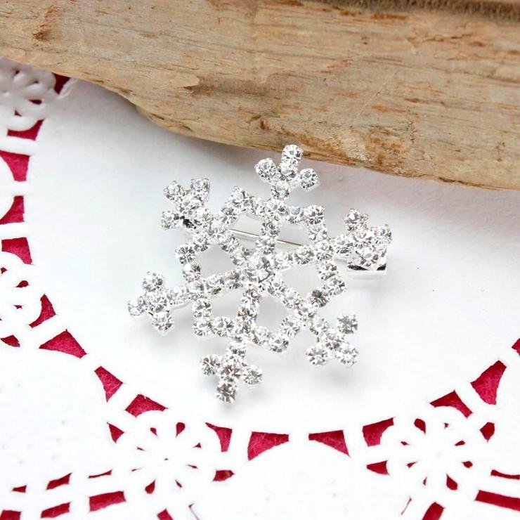 再入荷 クリスマス 小さめ雪の結晶ブローチ | lunolumo | 詳細画像1