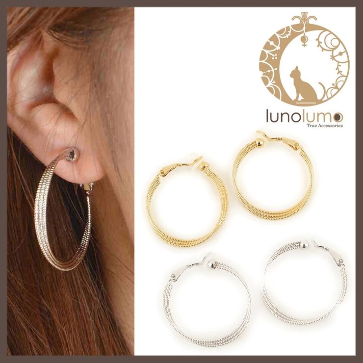 多連デザインのフープイヤリング | lunolumo | 詳細画像1