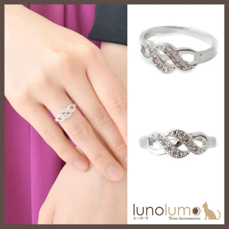 シルバーカラーのエレガントデザインリング 指輪 N   lunolumo   詳細画像1