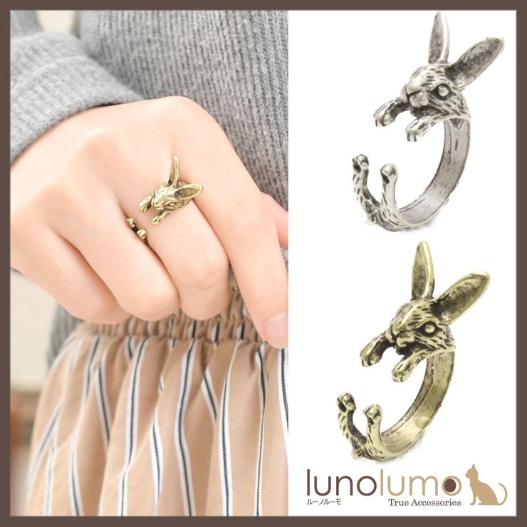 アンティークカラーのうさぎモチーフリング 指輪 N   lunolumo   詳細画像1