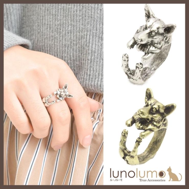 アンティークカラーのウェルシュ コーギー風リング 指輪 N   lunolumo   詳細画像1