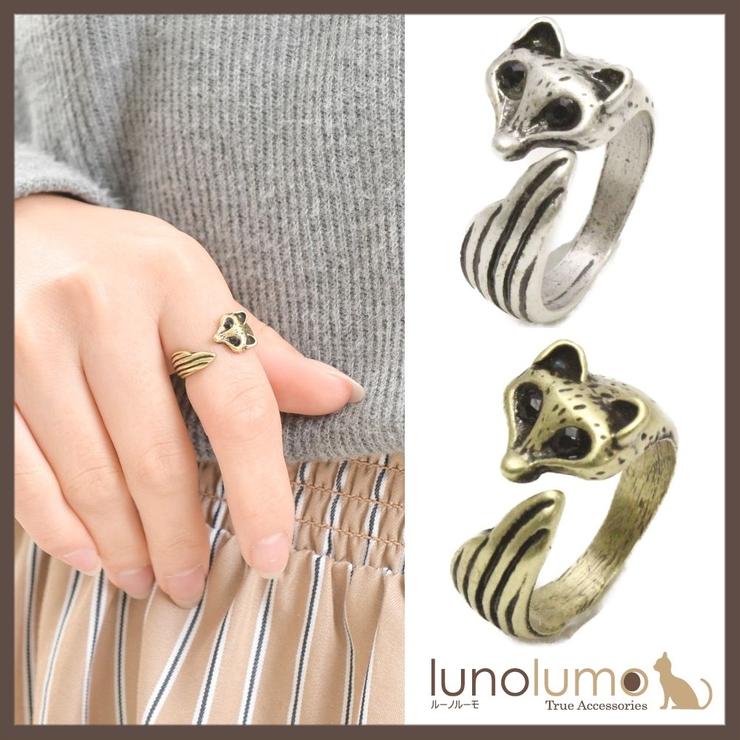 アンティークカラーのきつねモチーフリング 指輪 N | lunolumo | 詳細画像1