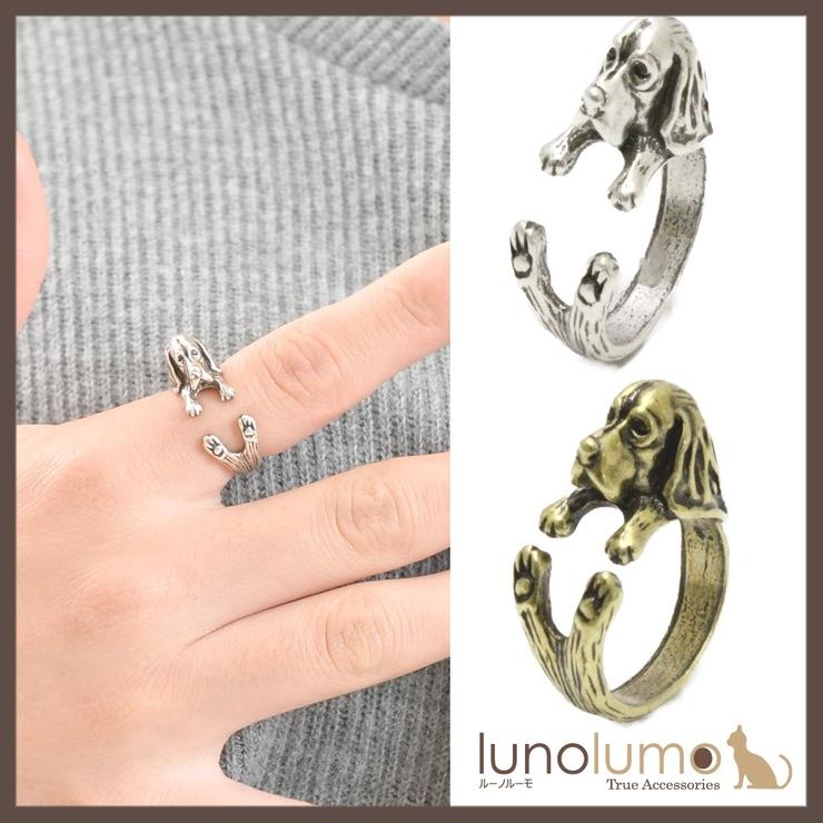 アンティークカラーのビーグル風リング 指輪 N | lunolumo | 詳細画像1