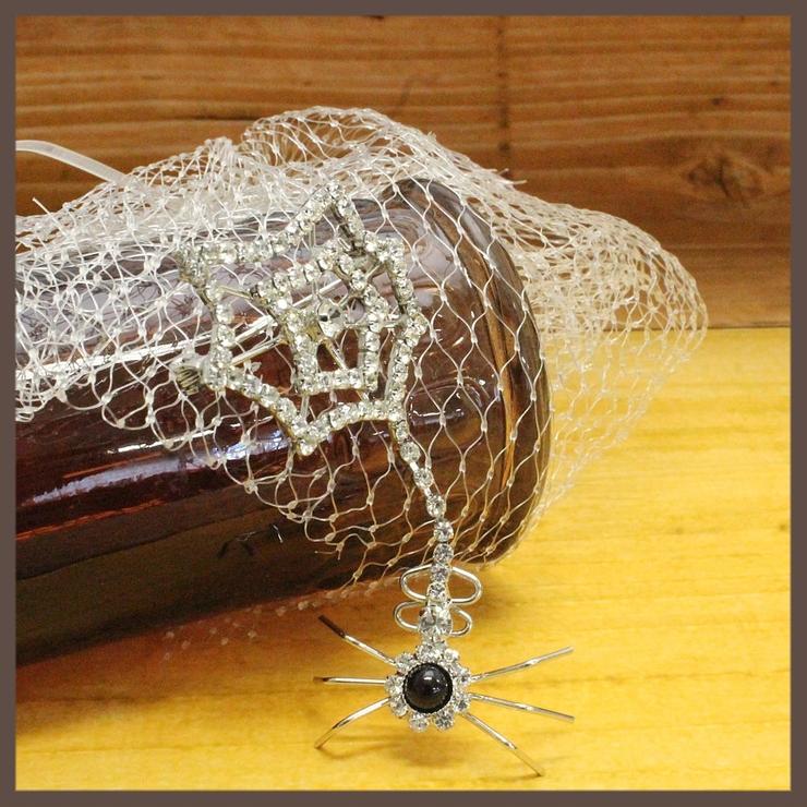 ハロウィン 蜘蛛と蜘蛛の巣のデザインブローチ | lunolumo | 詳細画像1