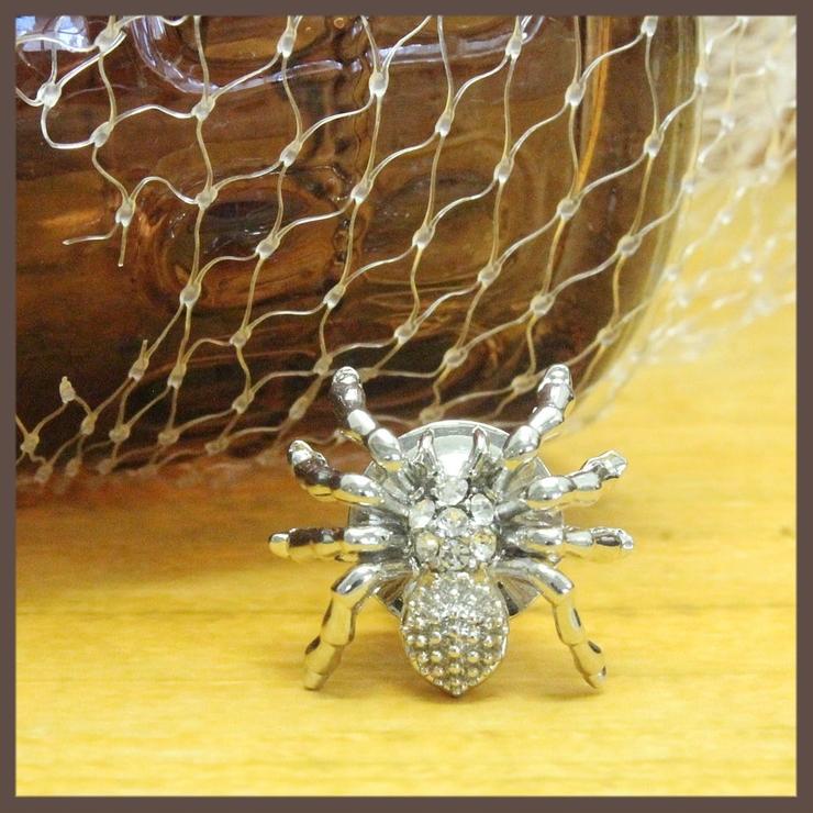 ハロウィン 蜘蛛モチーフのピンブローチ ラペルピン | lunolumo | 詳細画像1