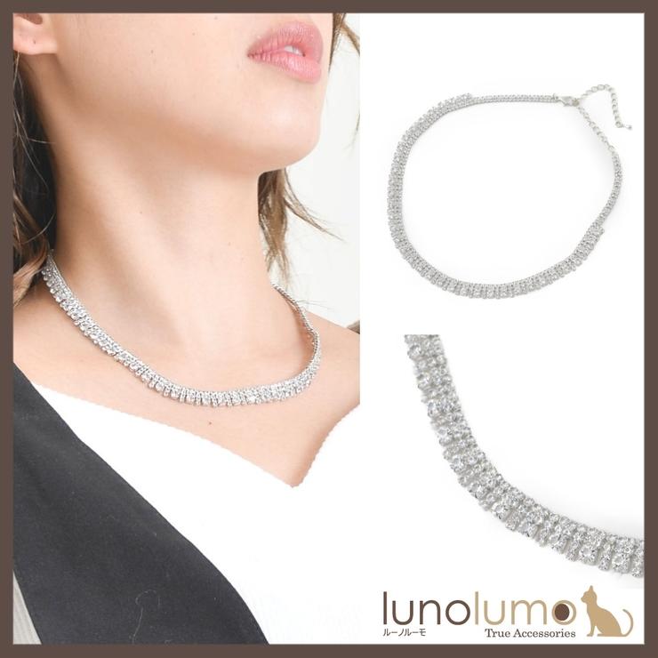 キュービックジルコニアのネックレス N | lunolumo | 詳細画像1