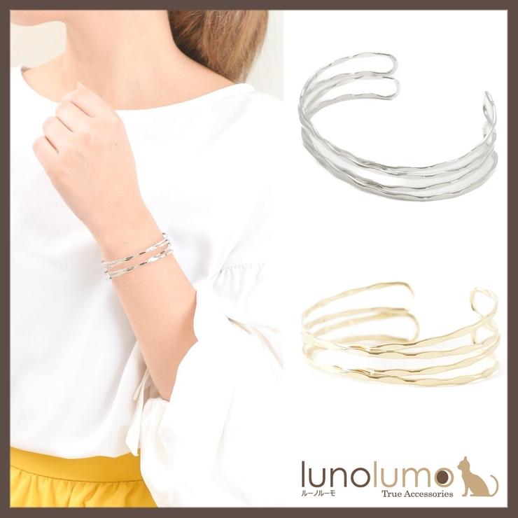 デザインメタルのバングルブレスレット N   lunolumo   詳細画像1