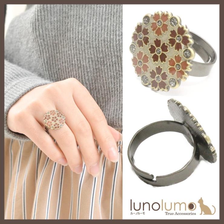 スペイン お花いっぱいのブラウントーンリング 指輪 クララビジュ   lunolumo   詳細画像1