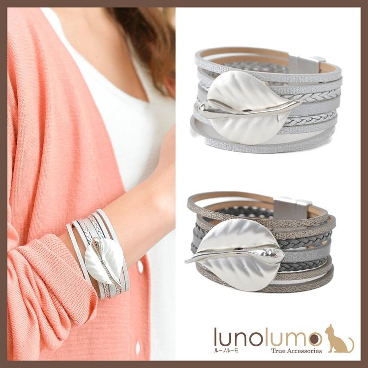 ブレスレット レザー レディース | lunolumo | 詳細画像1