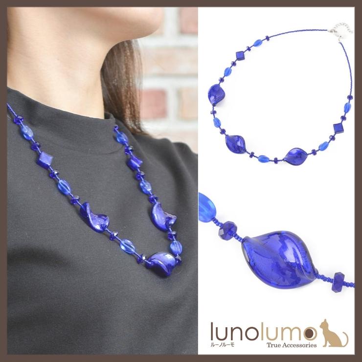 ベネチアングラスネックレス イタリア製 ネックレス   lunolumo   詳細画像1