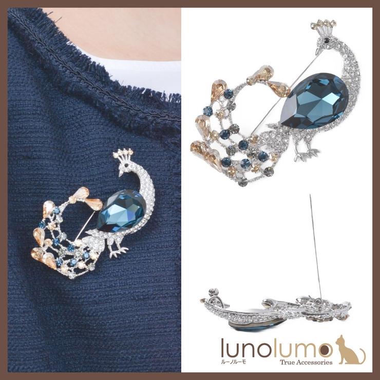 スワロフスキー ブローチ 孔雀 | lunolumo | 詳細画像1