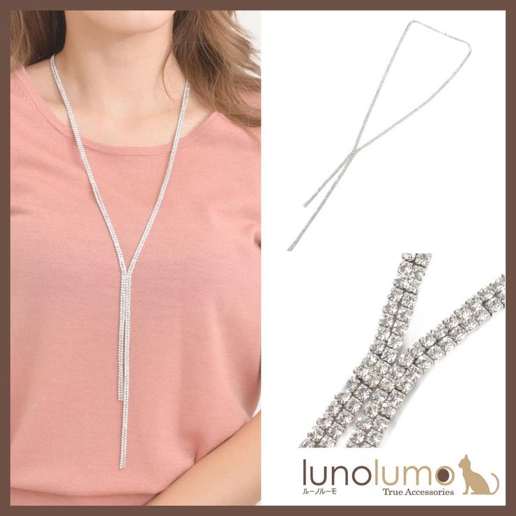 ネックレス ラインストーン ネクタイ | lunolumo | 詳細画像1