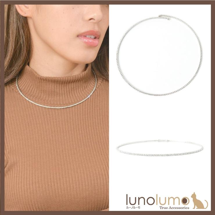 ネックレス ラインストーン チョーカー | lunolumo | 詳細画像1