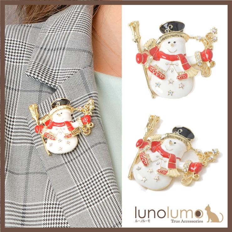 クリスマス ブローチ ゆきだるま | lunolumo | 詳細画像1