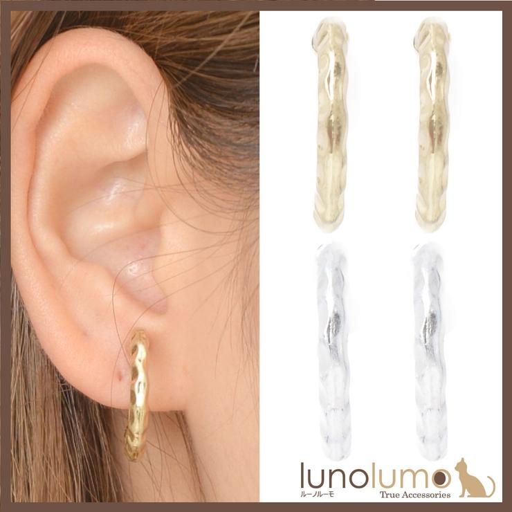 フープイヤリング イヤリング メタル | lunolumo | 詳細画像1