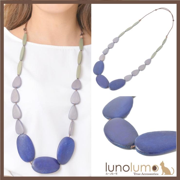 ネックレス ウッド 天然素材 | lunolumo | 詳細画像1