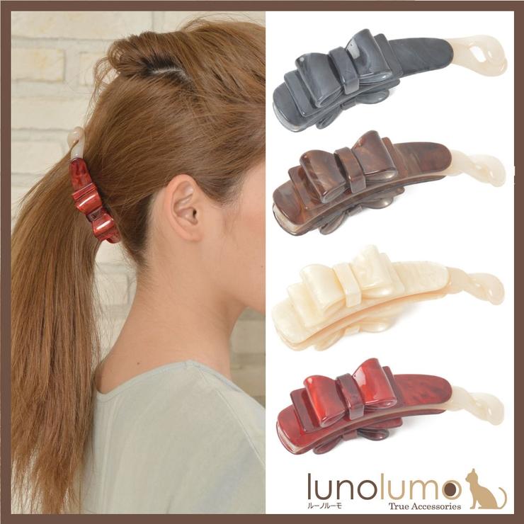 ヘアアクセサリー バナナクリップ まとめ髪   lunolumo   詳細画像1