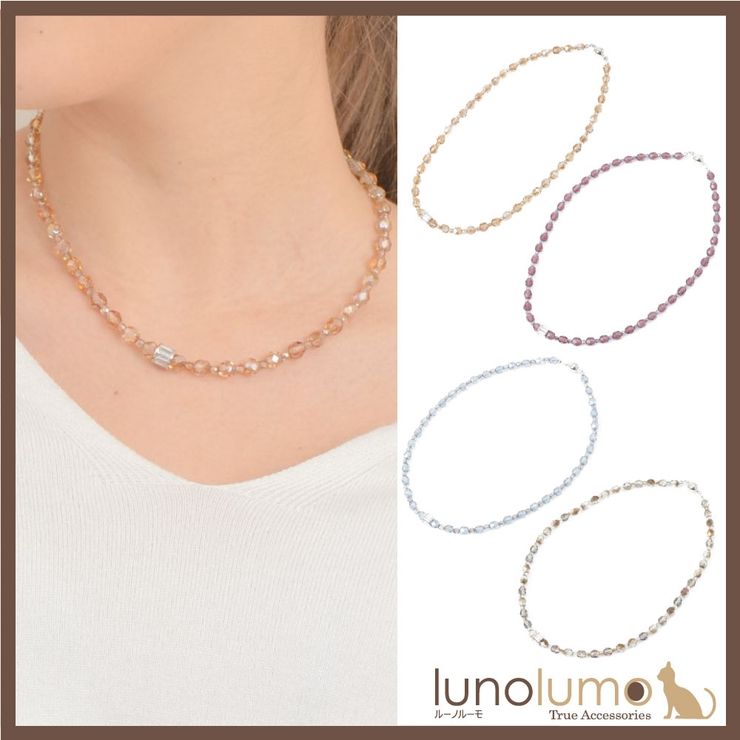 チェコガラス ネックレス レディース | lunolumo | 詳細画像1