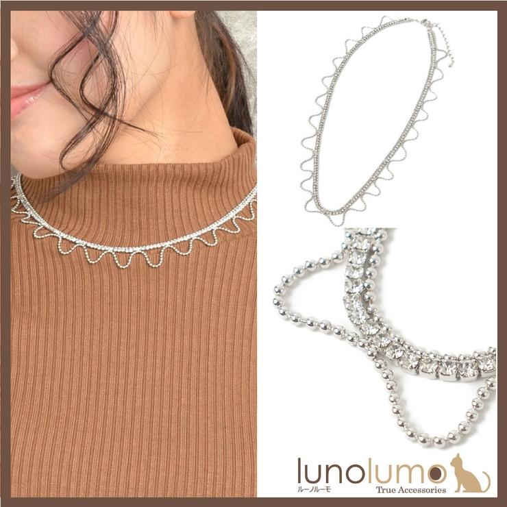 ネックレス レディース ラインストーン | lunolumo | 詳細画像1