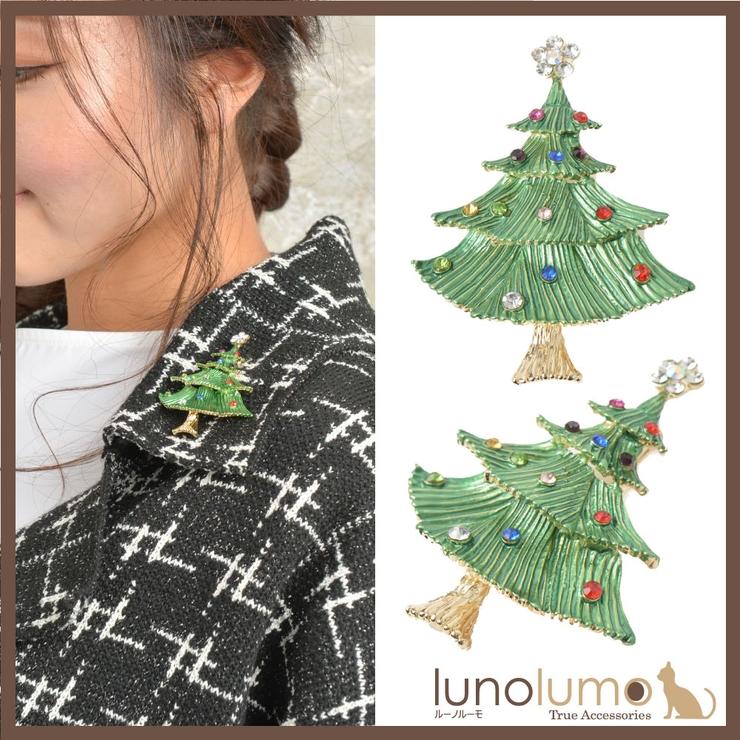 クリスマス ブローチ クリスマスツリー | lunolumo | 詳細画像1