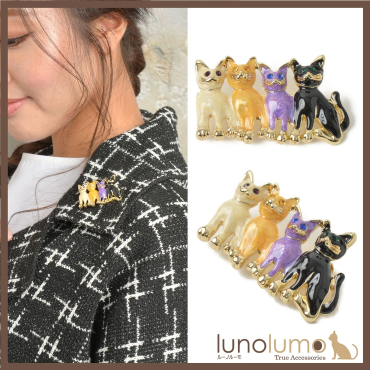 ブローチ 猫 ねこ | lunolumo | 詳細画像1